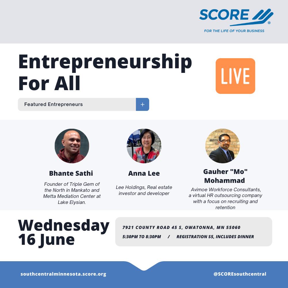 Entrepreneurship for All Event