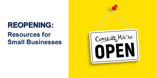 Reopening Guides, Toolkits,  and Strategies for Small Businesses