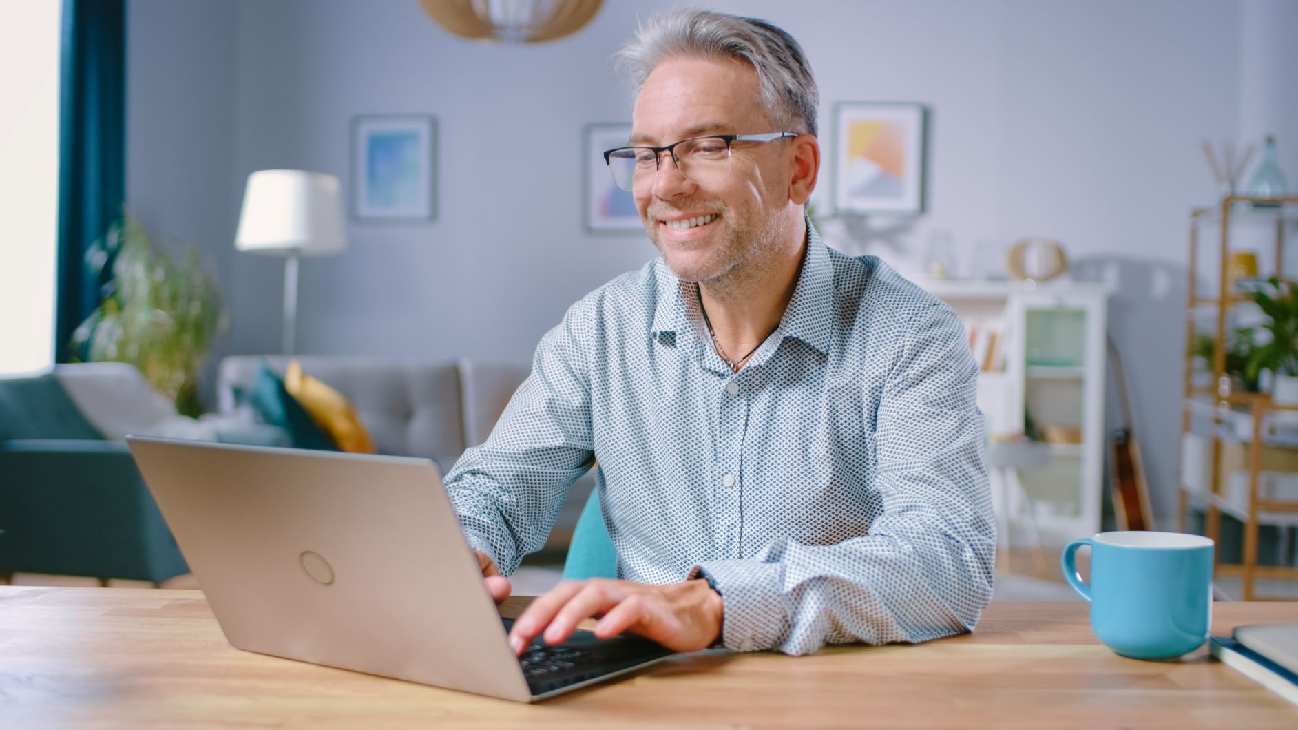 image of man at computer on remote call