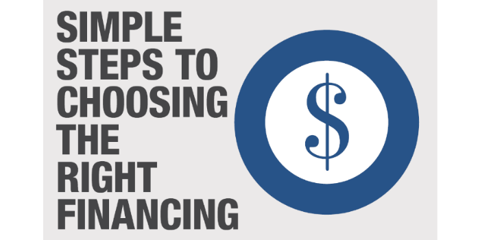 Simple Steps to Choosing the Right Financing