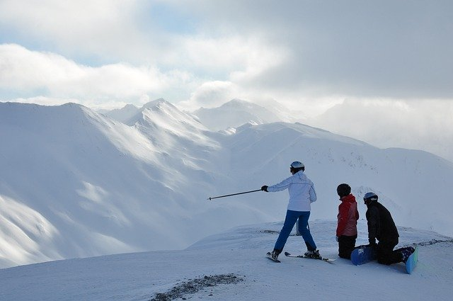planning your skiing down the mountain
