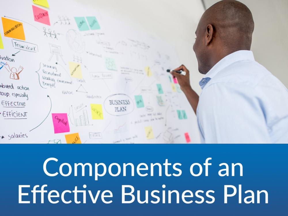 Components of an Effective Business Plan - $25 | 11/1 & 11/3 | 6:30-8PM