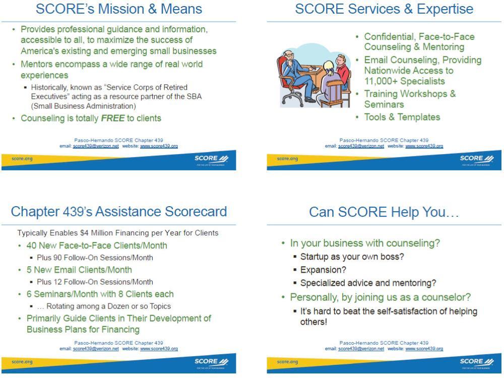 Why SCORE439?