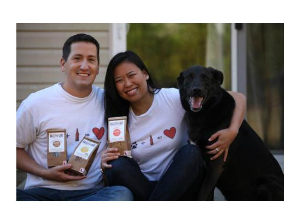 Scott Beaudry, Theresa Chu and their dog Barley