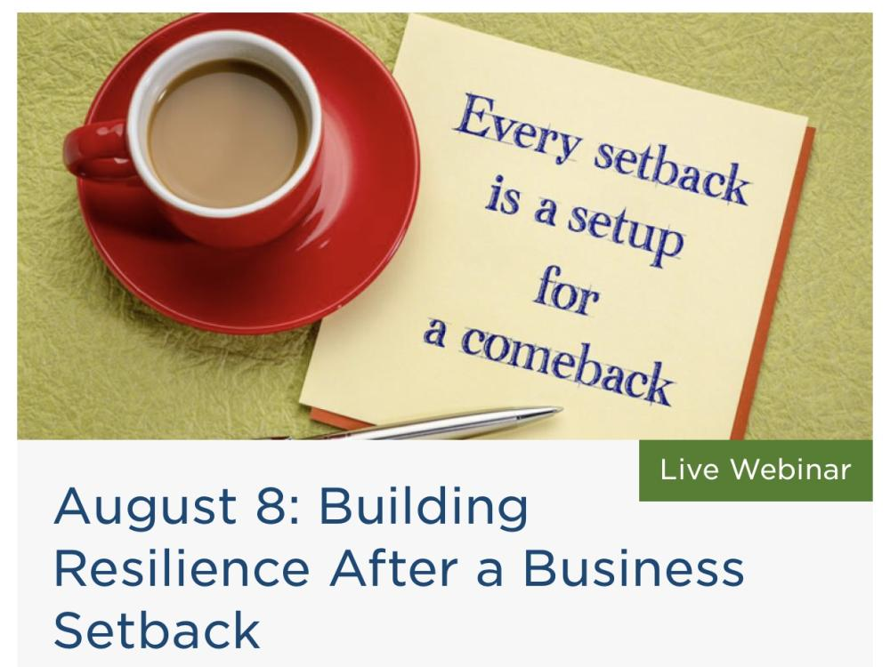 Building Resilience After a Business Setback
