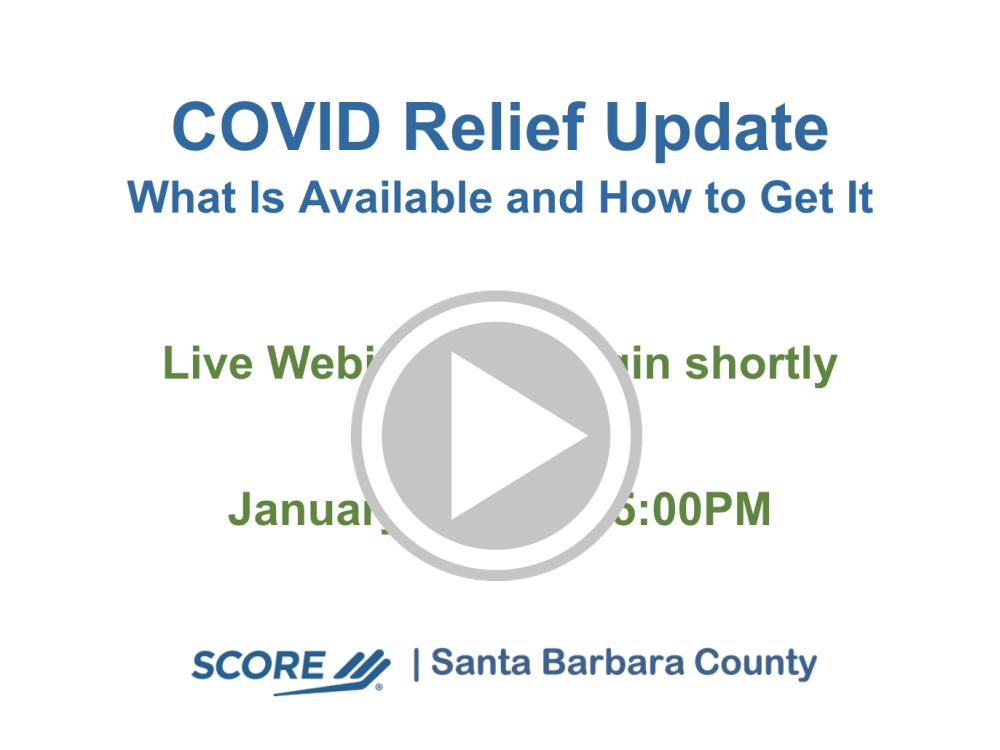COVID Relief Update Recorded Webinar 2