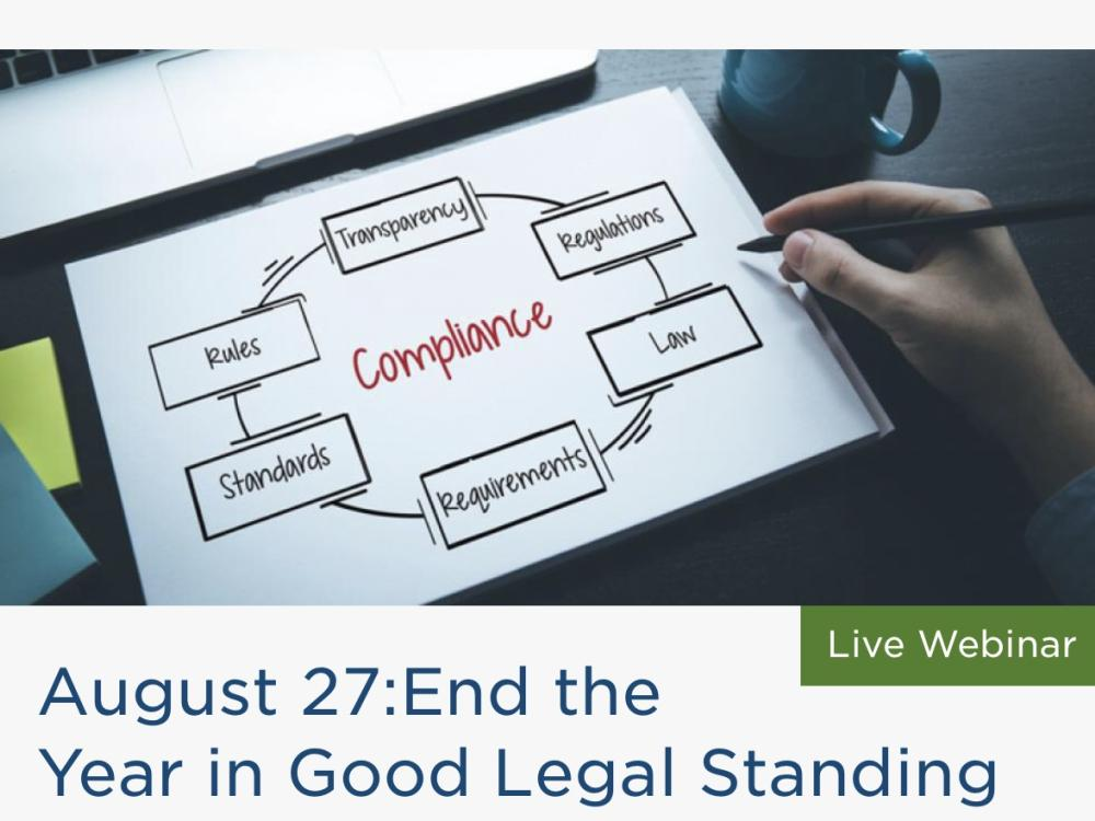 End the Year in Good Legal Standing