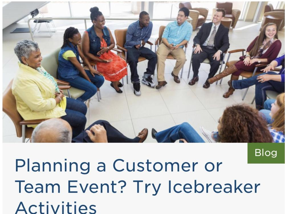 Planning a Customer or Team Event? Try Icebreaker Activities