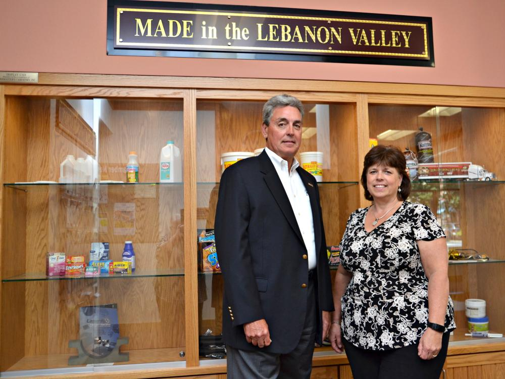 Pictured left to right: SCORE mentor Jerry Glenn and Lancaster Valley Chamber of Commerce President & CEO Karen Groh