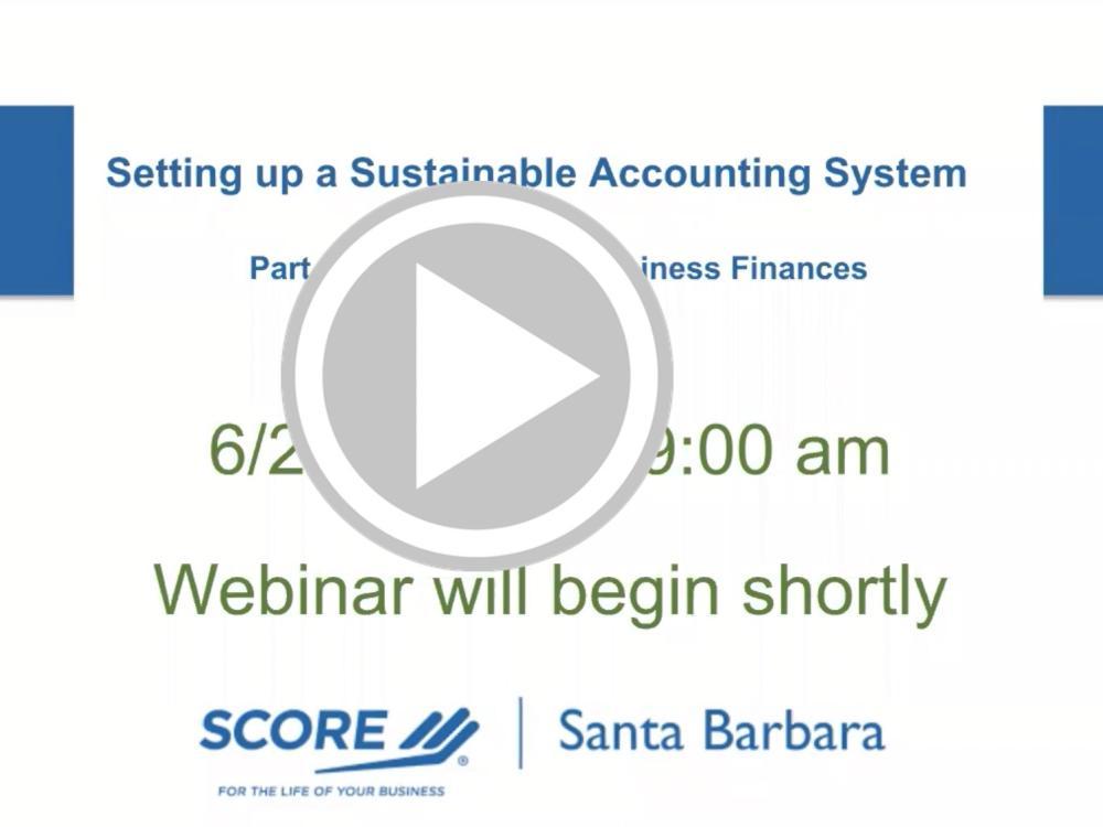 Managing Business Finances Recorded Webinar