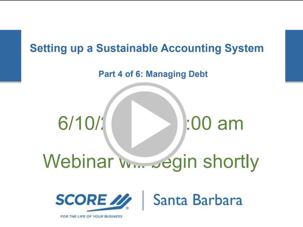 Managing Debt in Quickbooks Recorded Webinar