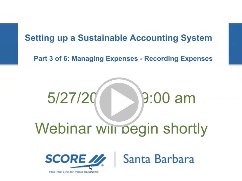 Managing Expenses - Recording Expenses Recorded Webinar