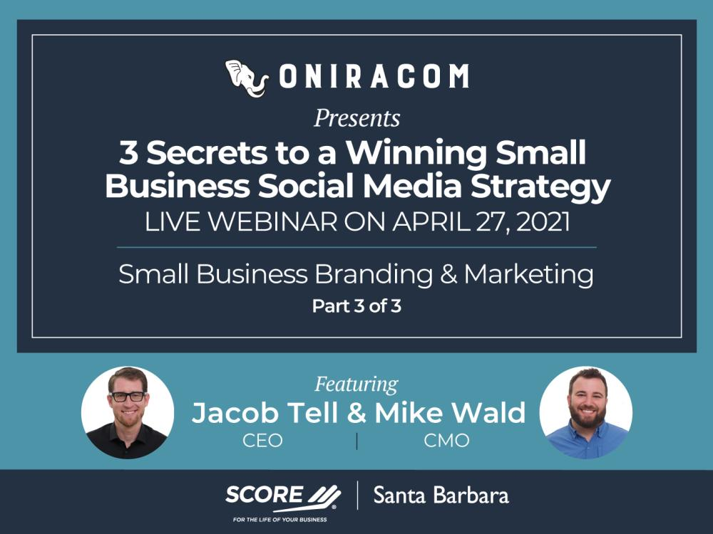 3 Secrets to a Winning Small Business Social Media Strategy Recorded Webinar