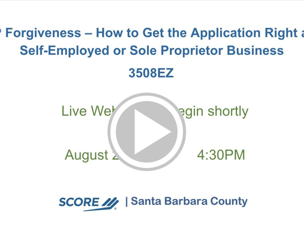 PPP Forgiveness – How to Get the 3508EZ Application Right as a Self-Employed or Sole Proprietor Business