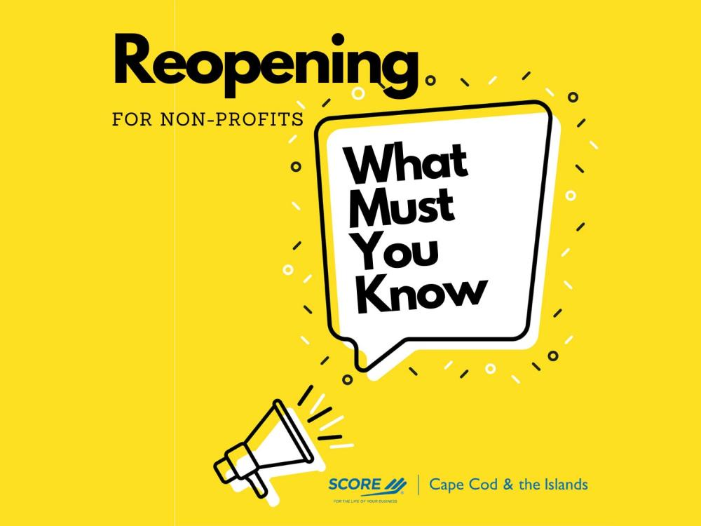 SCORE Reopening Toolkit for NonProfits