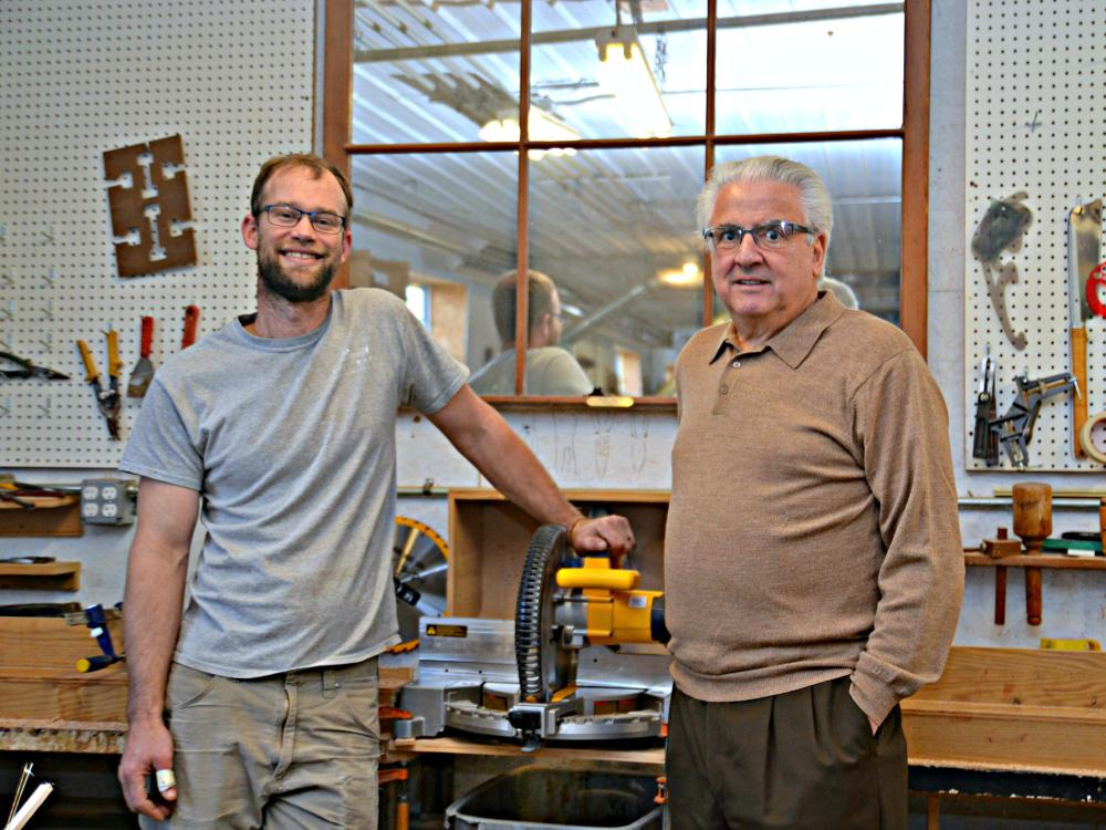 Client Joel Bare Woodworking & Mentor Eric Parker