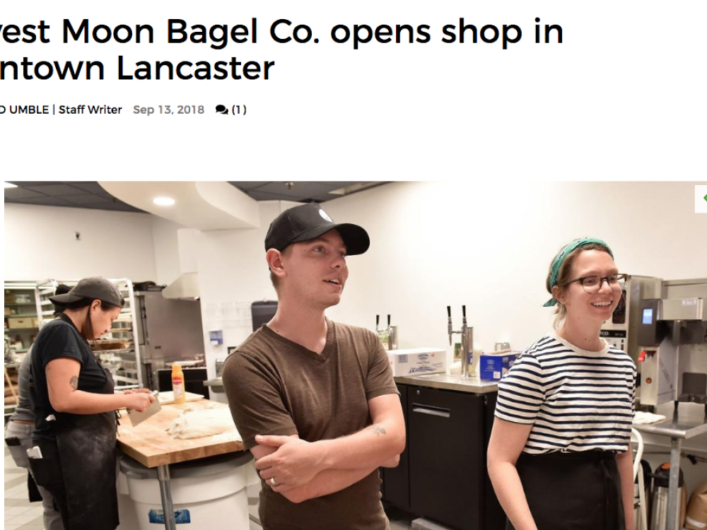 In the News | Harvest Moon Bagel Co. opens shop in downtown Lancaster