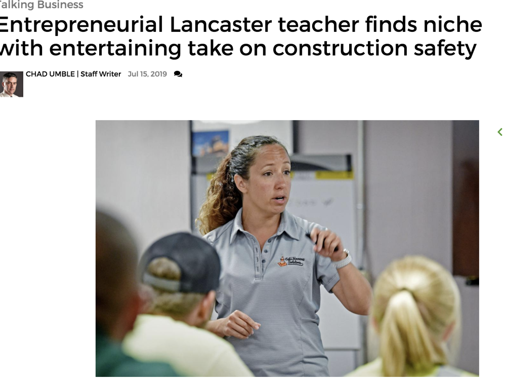 IN THE NEWS |  Entrepreneurial Lancaster teacher finds niche with entertaining take on construction safety