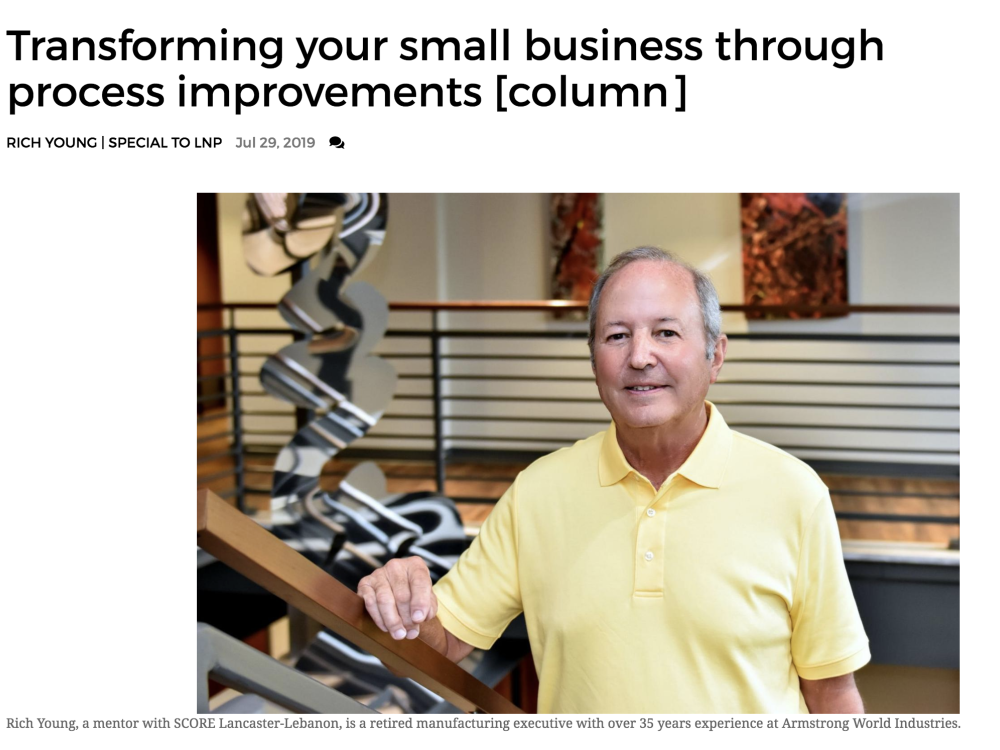 IN THE NEWS | Transforming your small business through process improvements