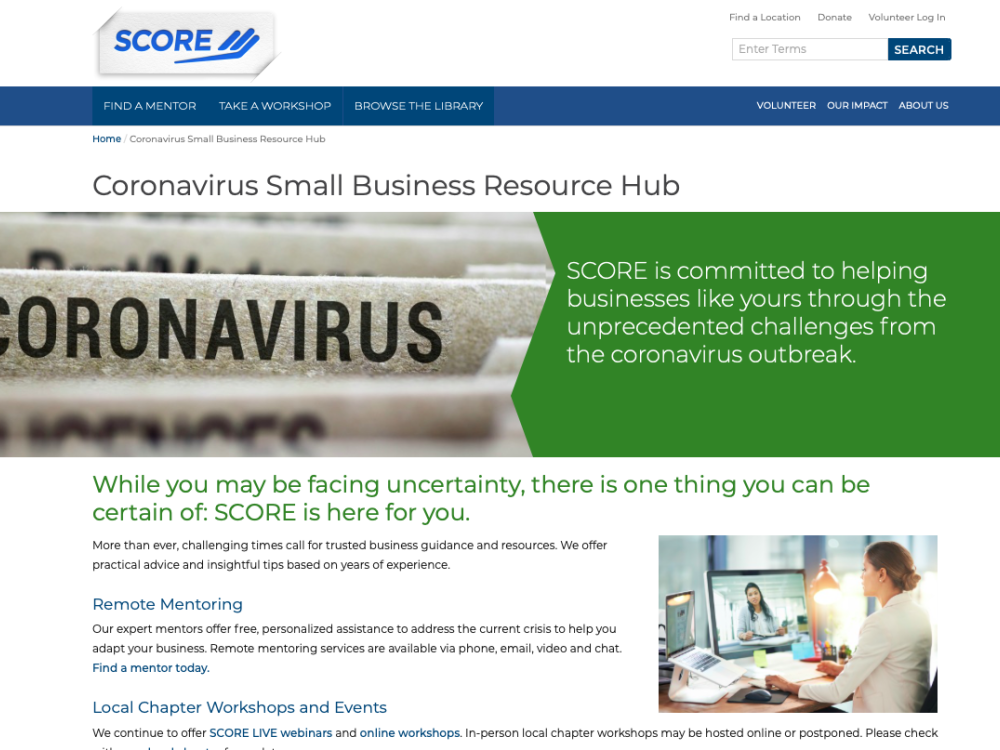 Small Business Resources for COVID-19 Relief