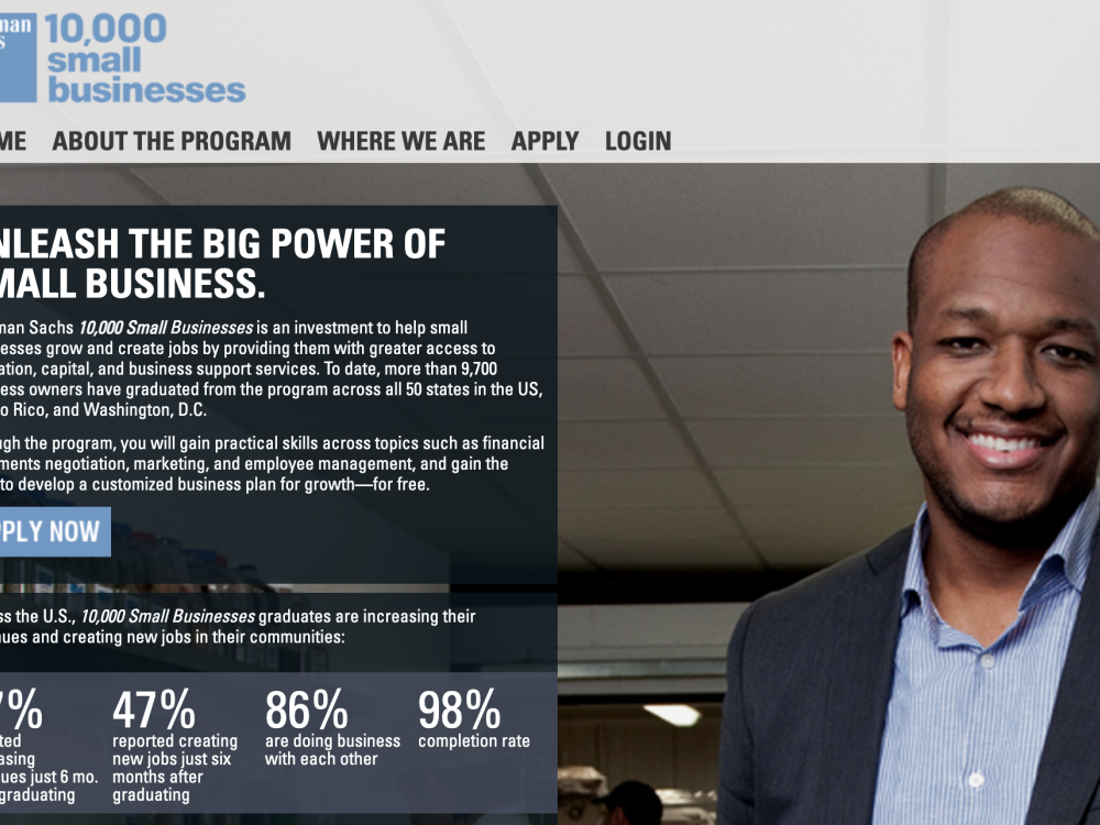Enrollment Now Open for Goldman Sachs' 10,000 Small Businesses