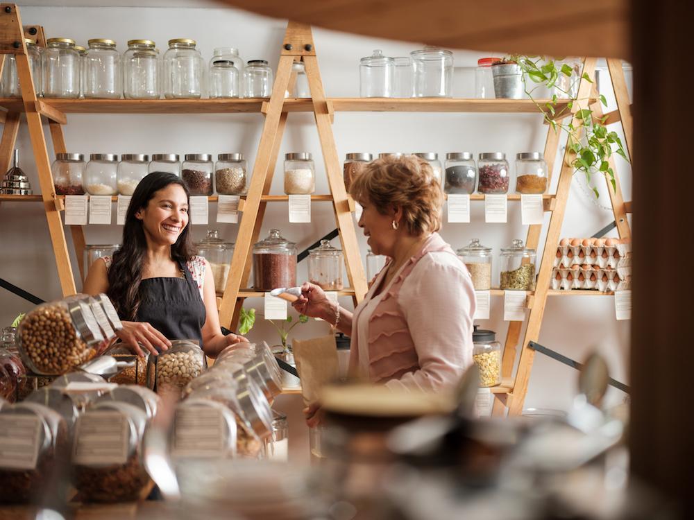 two hispanic women in spice store