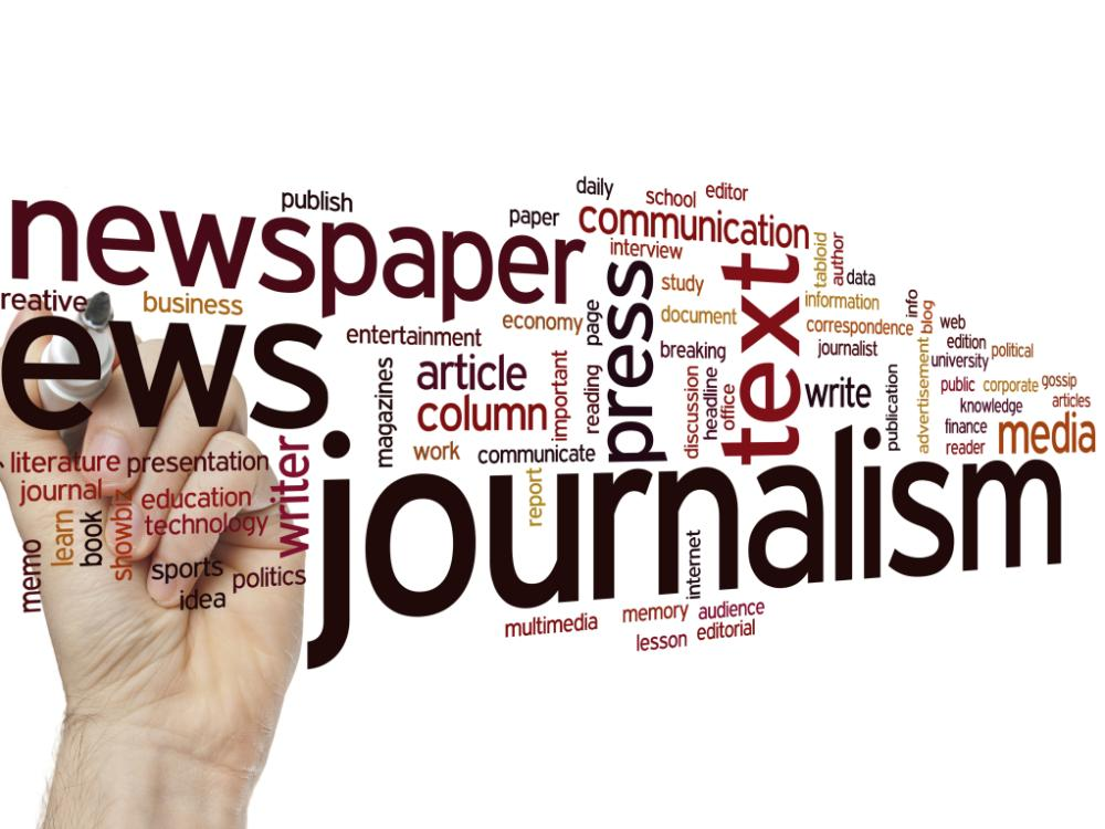 journalism word cloud