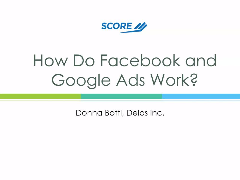 How Do Facebook and Google Ads Work? - video