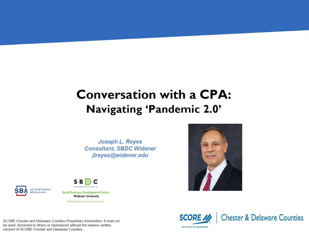 Conversation with a CPA: Navigating Pandemic 2.0 - video