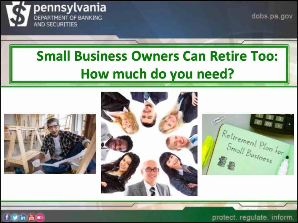 Retirement Planning 101 for Small Businesses - slides