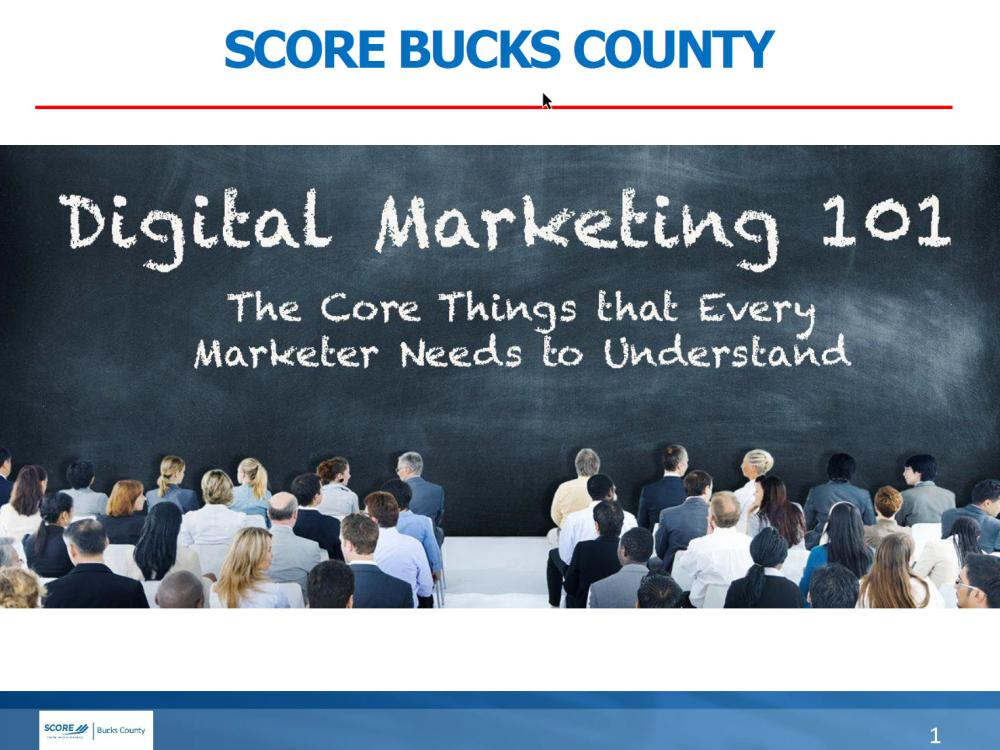Getting Started in Digital Marketing - slides