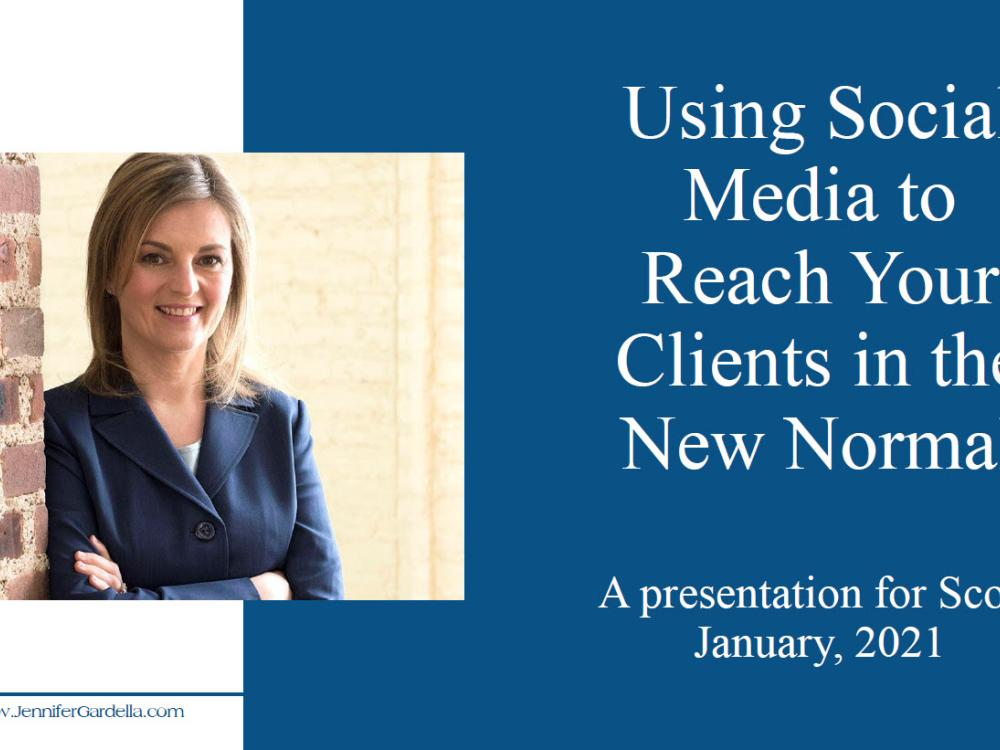 Using Social Media to Reach Your Clients in the New Normal - video