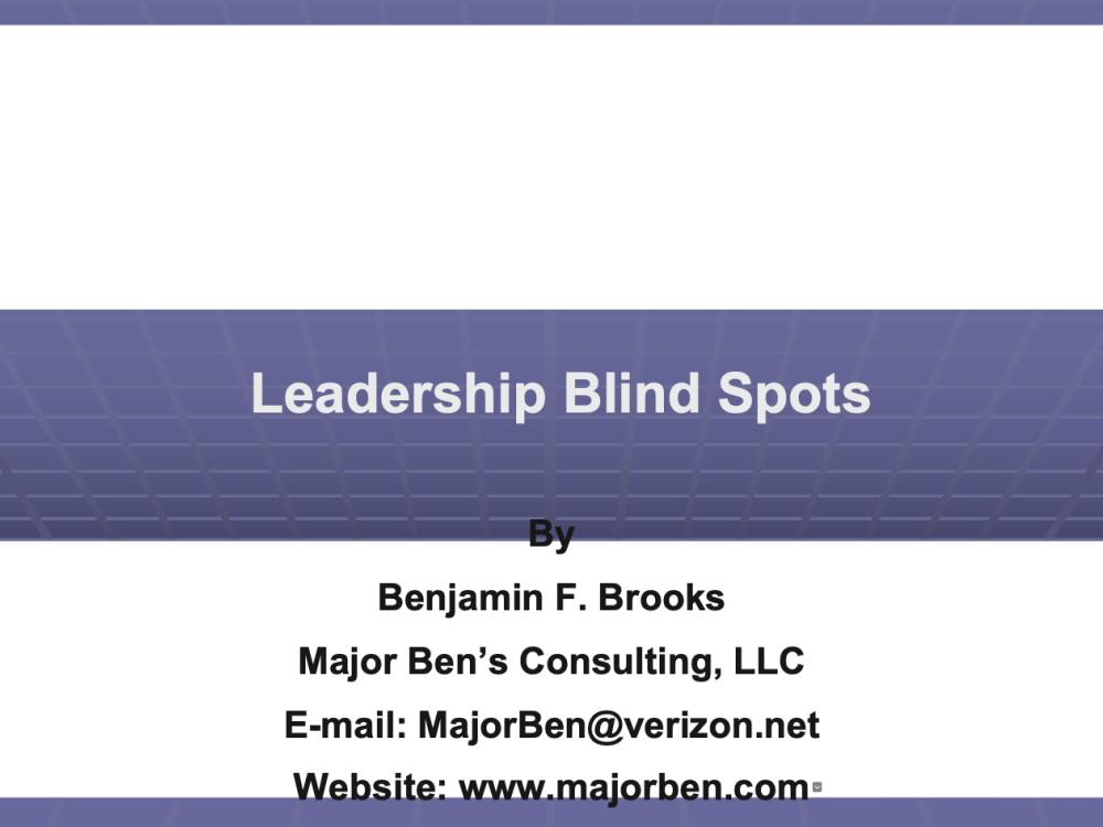 Unconscious Bias, A Major Leadership Blind Spot In Your Small Business Operation - video