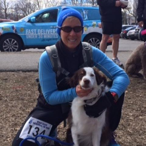 Laura Gaito - running a charity event with her dog Melbyn