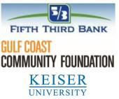 Fifth Third Bank, Gulf Coast Community Foundation, Keiser University
