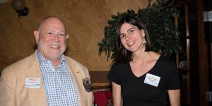 """SCORE SECT Volunteer Michael Del Vecchio with Guest Speaker Sarah Kessler, Author of """"Gigged: The End of the Job and the Beginning of Work,"""" 8/22/18"""