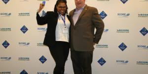 Courtney Daniel with David Bobbitt of the SCORE Foundation