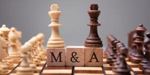 Mergers and acquisitions chess pieces