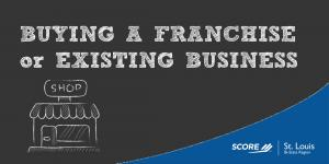 Buying a Franchise or and Existing Business