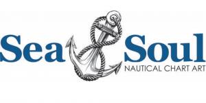 Sea & Soul Nautical Chart Art Logo