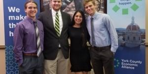 Pictured, from left, Hayden Schimp, Bryce Kruger, Rubi Garcia Manzo, and Chase Summers.