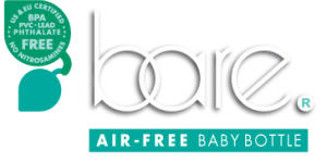 Bare® air-free baby bottle