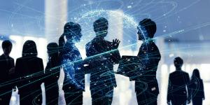 business people networking technology