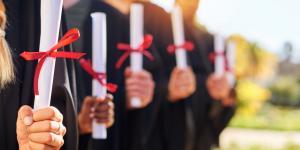 college graduates holding degrees