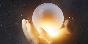 looking into crystal ball