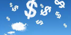 clouds that look like dollar signs