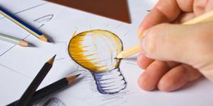 drawing a light bulb idea