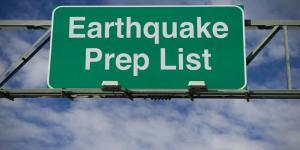 earthquake prep sign