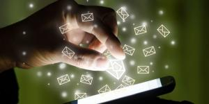 email icons on phone