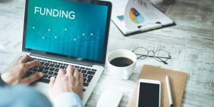 funding on laptop screen